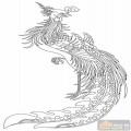 凤-白描图-雏凤清声-huangf003-白描凤图