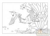 04花草禽鸟-追随-00065-雕刻玻璃
