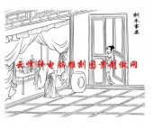 二十四孝-矢量图-09刻木事亲-国画二十四孝图