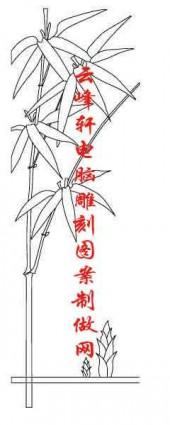 梅兰竹菊-白描图-竹子-mlxj046-梅兰竹菊白描图
