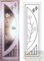 玻璃门-浮雕贴片-花卉-00012