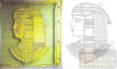 雕刻玻璃图案-肌理雕刻系列1-埃及人像-00133