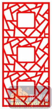 镂空装饰单式002-几何花纹-镂空装饰单式002-020-镂空雕刻图片下载