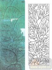 雕刻玻璃图案-肌理雕刻系列1-葱翠-00017