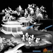 百子图002-童趣-3-百子图浮雕图库