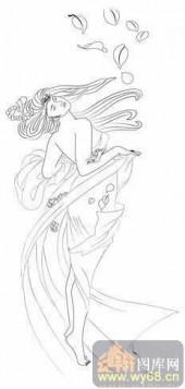 2008-白描图-天生丽质-2008-013-传统仕女图片