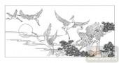 01传统系列-野鹤孤云-00058-艺术玻璃图库