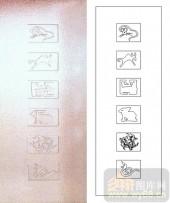 05肌理雕刻系列样图-生肖-00098-雕刻玻璃图案
