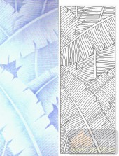 05肌理雕刻系列样图-芭蕉叶-00060-雕刻玻璃