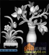 多宝格-花瓶-012-多宝格灰度图案
