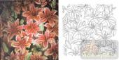 艺术玻璃图-肌理雕刻系列1-红花-00073