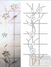 玻璃门-浮雕贴片-花纹-00048