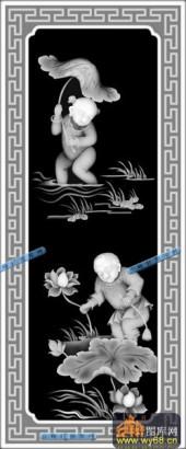童子套件-顽童-016-童子套件灰度图