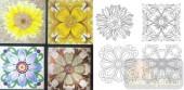 艺术玻璃-肌理雕刻系列1-花组合-00105