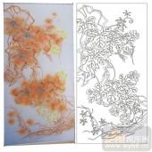 2011设计艺术玻璃刻绘-树-雕刻玻璃图案