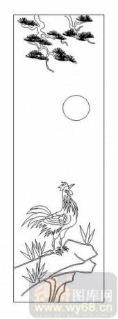 03动物系列-金鸡-00048-装饰玻璃