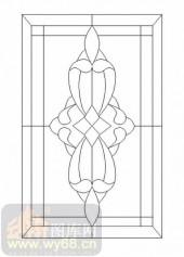 喷砂玻璃-12镶嵌-艺术花纹-00000