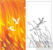 05肌理雕刻系列样图-仙鹤芦苇-00086-雕刻玻璃图案