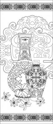 竖板44,花瓶