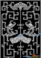 鱼图-传统花纹-036-雕刻灰度图