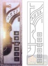 装饰玻璃-浮雕贴片-音符-00028