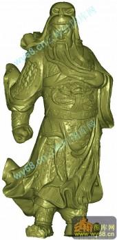 关云长-圆柱雕刻素材