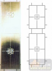 玻璃门-浮雕贴片-艺术花纹-00050