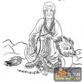 18罗汉3-白描图-罗汉10-罗汉国画白描