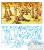 2011设计艺术玻璃刻绘-根深叶茂-艺术玻璃图库