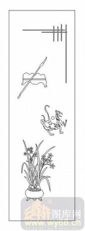 02古文化系列-芝兰之室-00066-喷砂玻璃