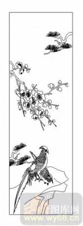 04花草禽鸟-梅花-00015-雕刻玻璃