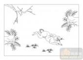 03动物系列-动若脱兔-00029-雕刻玻璃图案