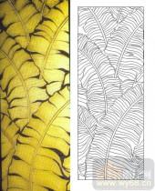喷砂玻璃图库-肌理雕刻系列1-黄叶-00066