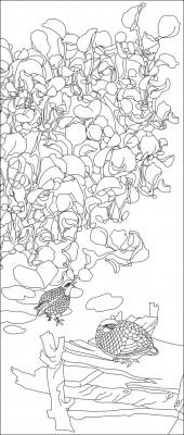 竖板53,花鸟