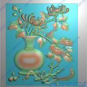 梅兰竹花瓶屏风套图-A