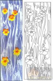 05肌理雕刻系列样图-花朵-00170-艺术玻璃图库