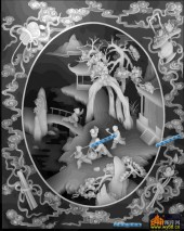 百子图002-童戏-17-浮雕灰度图