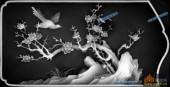 03-花鸟-047-花鸟浮雕灰度图