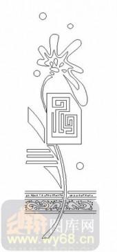 玻璃门-06四扇门(2)-艺术花-00075