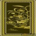 荷花仙鹤 T形纹-浮雕雕刻图案