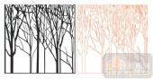 2011设计艺术玻璃刻绘-树杆-喷砂玻璃图库