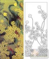 艺术玻璃-肌理雕刻系列1-风车花-00142