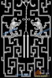 02-龙纹-036-龙凤灰度图案