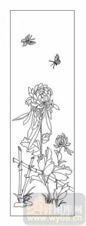 04花草禽鸟-菊花-00036-玻璃雕刻