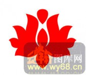 中式镂空装饰001-莲花-中式镂空装饰001-054-镂空隔断效果图