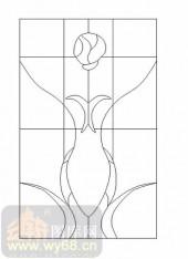 玻璃门-12镶嵌-艺术图形-00012