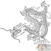 龙-白描图-凤舞龙蟠-long50-中国白描龙