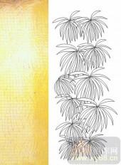 05肌理雕刻系列样图-花卉-00072-雕刻玻璃图案