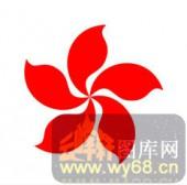 中式镂空装饰001-紫荆花-中式镂空装饰001-056-木板雕刻