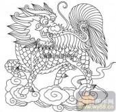100个中国传统吉祥图-矢量图-麟趾呈祥-B-027-吉祥图案